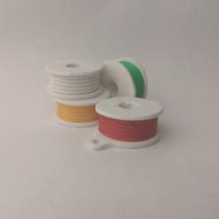 Descargar Modelos 3D para imprimir gratis Llavero Bobina Filamento Retro Llavero plano, Az3Dip