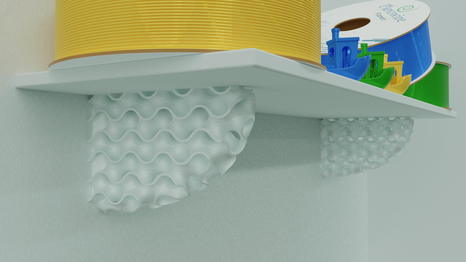 untitled.png Télécharger fichier STL gratuit Support d'étagère pour gyroïde • Design pour impression 3D, Az3Dip