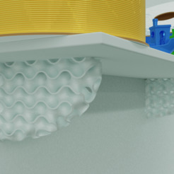 Download free 3D printing models Gyroid Shelf Bracket, Az3Dip