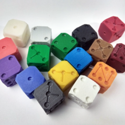 Free 3D print files Clibration cube dice xyz, Az3Dip