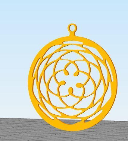 mandala 2.JPG Download free STL file Mandala Necklace • 3D printable design, nicholas23