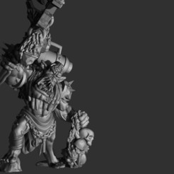Download STL file Punk Ork Weirdboy, MazaYMarin