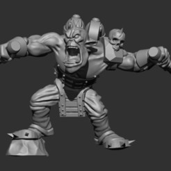 Download 3D printer designs Kamikaze Punk Ork, MazaYMarin