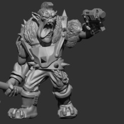 Download 3D printing designs Pistol Punk Ork, MazaYMarin