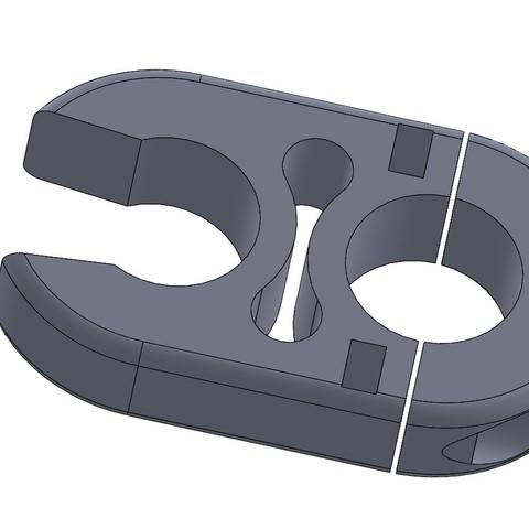 Download free 3D printing models folding ladder hook motorhome for 30 mm tube., Sphinx31