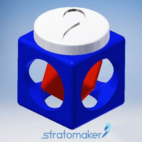 Free Cube prisoner STRATOMAKER 3D printer file, Ted3D