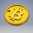 Free 3D file Bitcoin Keyring, Ted3D