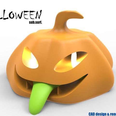 halloweenn.jpg Download STL file halloween 3d model for printing • Design to 3D print, kasraoui
