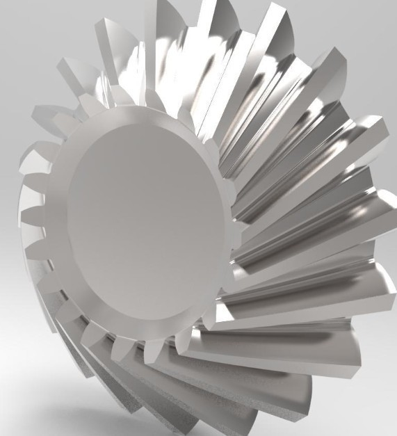 ok.jpg Download STL file helical bevel gear • 3D printing design, kasraoui