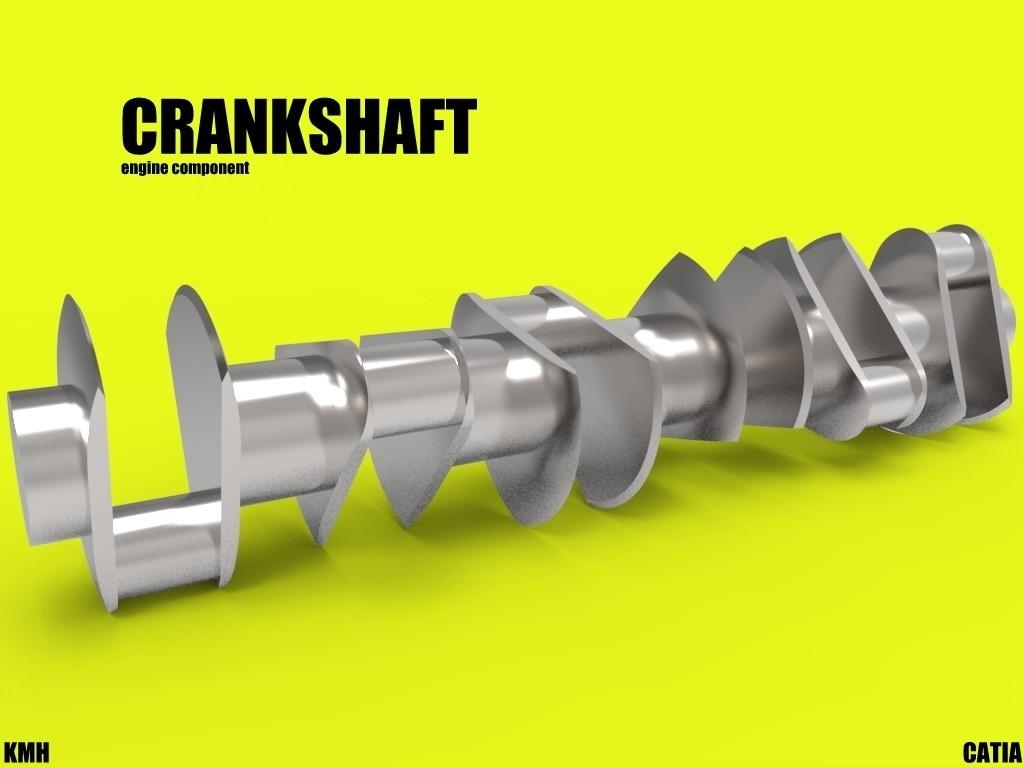 crankshaft.jpg Download STL file crankshaft car engine component • 3D printer object, kasraoui