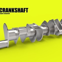 3D printer files crankshaft car engine component, kasraoui