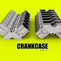 3D printer models crankase car engine component, kasraoui