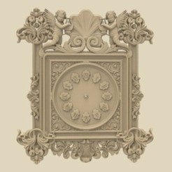 Wall_Clock_STL_Model (1).jpg Download free STL file Wall clock 3d stl models for artcam and aspire • Model to 3D print, Isu45-3dmodels