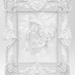Download free 3D model Arthur wall decor art 3d stl models for artcam and aspire, Isu45-3dmodels