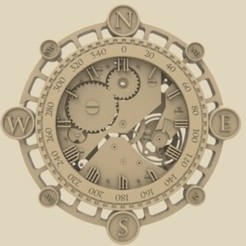 Free 3D model Wall clock 3d stl models for artcam and aspire, Isu45-3dmodels