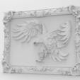 Free 3D model Eagle framed wall art 3d stl models for artcam and aspire, Isu45-3dmodels