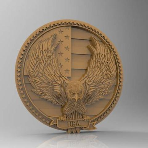 2.jpg Download free STL file Eagle decor 3d stl models for artcam and aspire • 3D printable model, Isu45-3dmodels