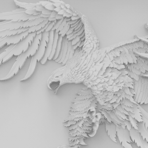 Eagle framed-4.png Download free STL file Eagle framed wall art 3d stl models for artcam and aspire • Model to 3D print, Isu45-3dmodels
