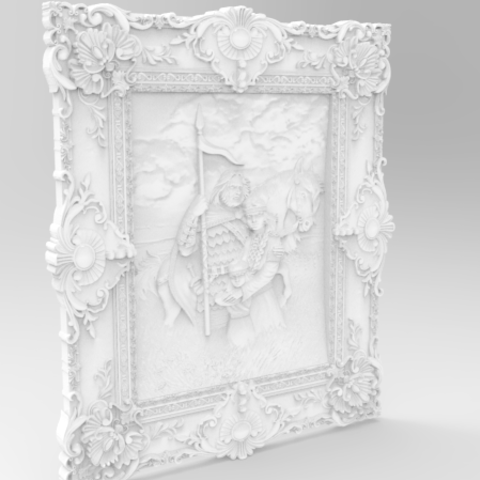 Arthur-2.png Télécharger fichier STL gratuit Arthur wall decor art 3d stl models for artcam and aspire • Objet imprimable en 3D, Isu45-3dmodels