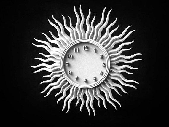 Sun_Clock_3D_STL_Model.jpg Download free STL file Wall clock 3d stl models for artcam and aspire • Model to 3D print, Isu45-3dmodels