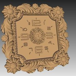 Download free 3D printing templates Wall clock 3d stl models for artcam and aspire, Isu45-3dmodels