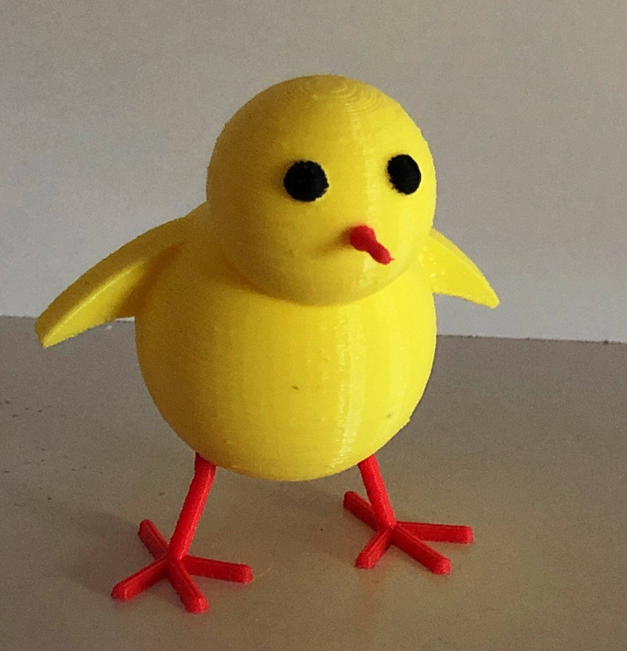 Chick.JPG Download free STL file Poussin, inspired by emoticon • 3D printer object, Tacol