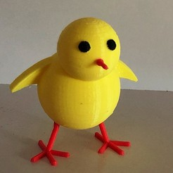 Free 3D printer files Poussin, inspired by emoticon, Tacol