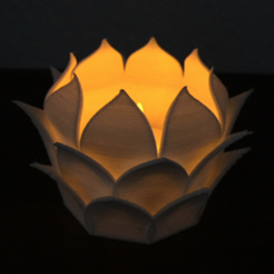 Download free 3D printer templates Photophore lotus, Tacol