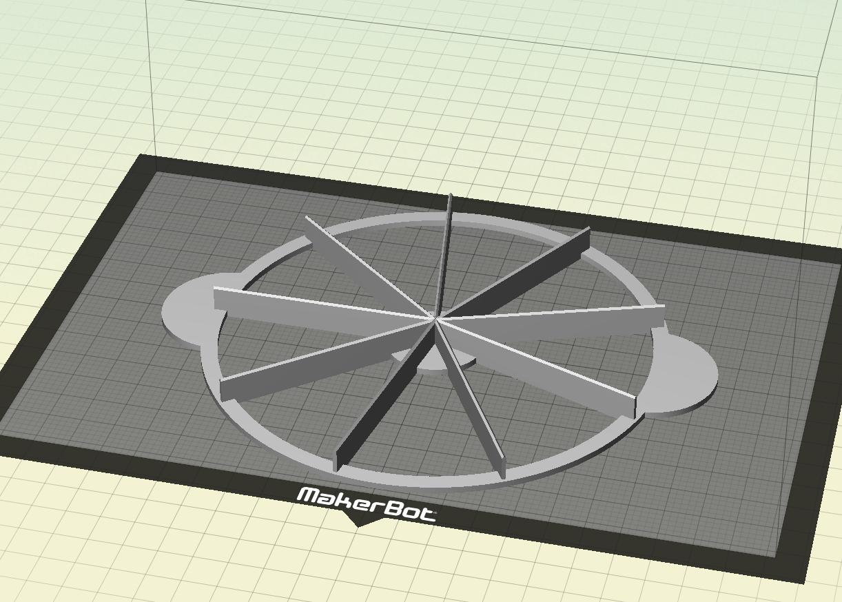 Download Stl File Cake Cutter 9 Pieces 3d Print Template Cults