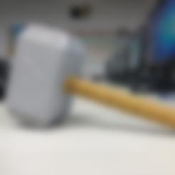 Thor_HammerHandle.stl Download free STL file Thor Hammer • 3D printing design, NickChung