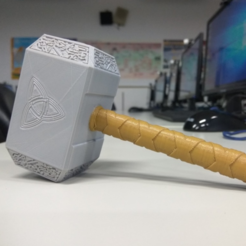 Download free 3D printer templates Thor Hammer, NickChung