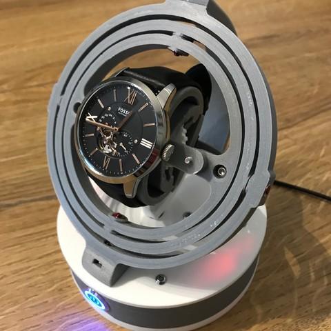 Télécharger plan imprimante 3D Gyro Winder / Watch Winder / Remontoir Montre, NedalLive