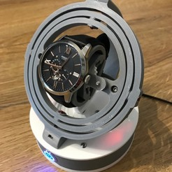 3D print files Gyro Winder / Watch Winder / Watch Winding Watch, NedalLive