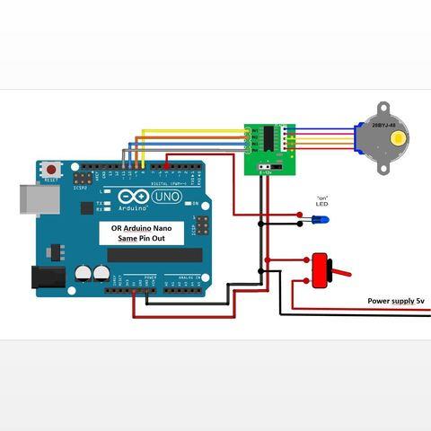 Wiring.jpg Télécharger fichier STL Gyro Winder / Watch Winder / Remontoir Montre • Objet pour impression 3D, NedalLive