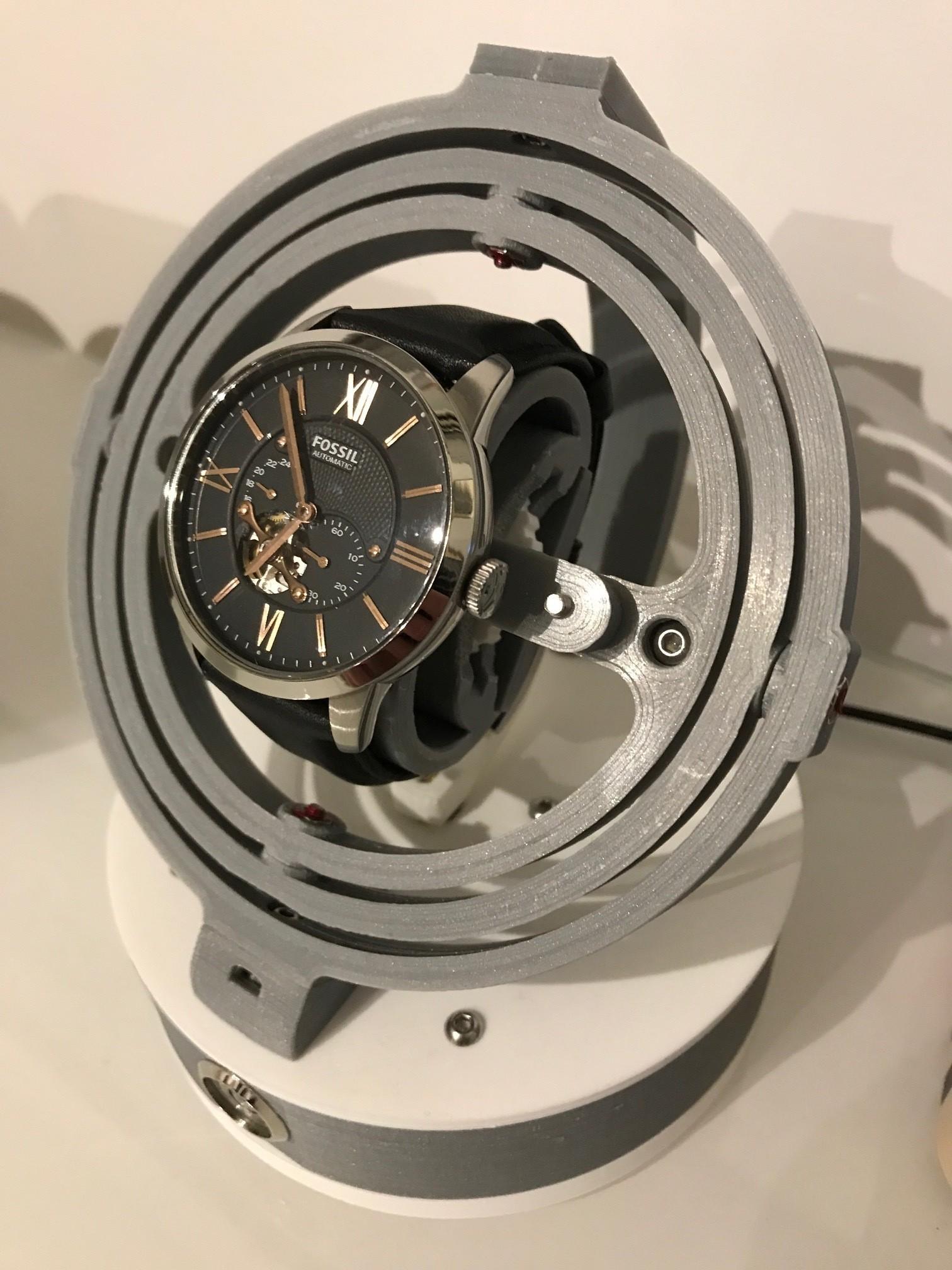 IMG_1557.JPG Télécharger fichier STL Gyro Winder / Watch Winder / Remontoir Montre • Objet pour impression 3D, NedalLive