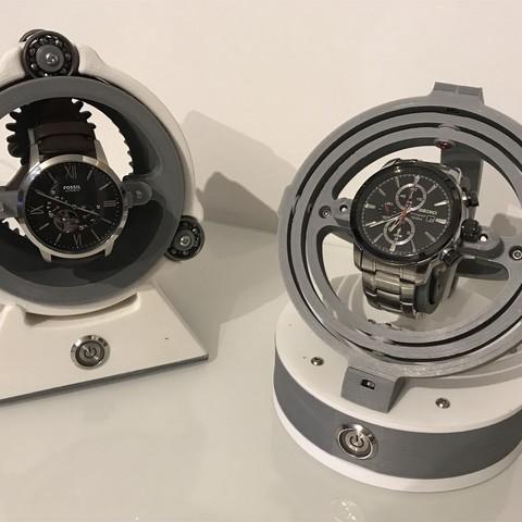 IMG_2877.jpg Télécharger fichier STL Gyro Winder / Watch Winder / Remontoir Montre • Objet pour impression 3D, NedalLive