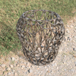 VaseRender1.png Download free STL file Voronoi Mesh Vase • 3D printable design, hirez