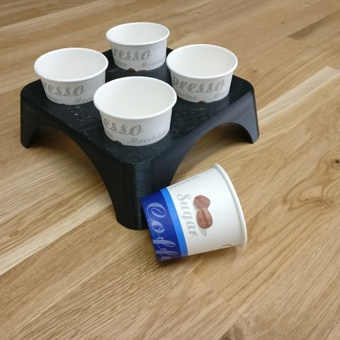 Télécharger objet 3D gratuit 4 Porte-tasses à espresso, hirez