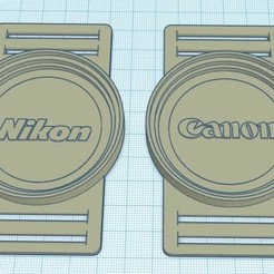 Foto.jpg Download STL file Lens Cap Nikon-Canon 55-58-62 mm • Model to 3D print, Bos77ero