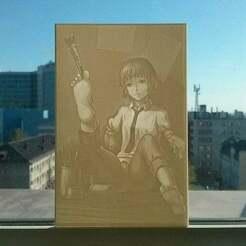 wnSmydC5aXQ.jpg Télécharger fichier STL gratuit Rin Tezuka Lithophane • Plan pour imprimante 3D, Harada