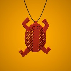 3D printer file C-Frog pendant, C-Lab