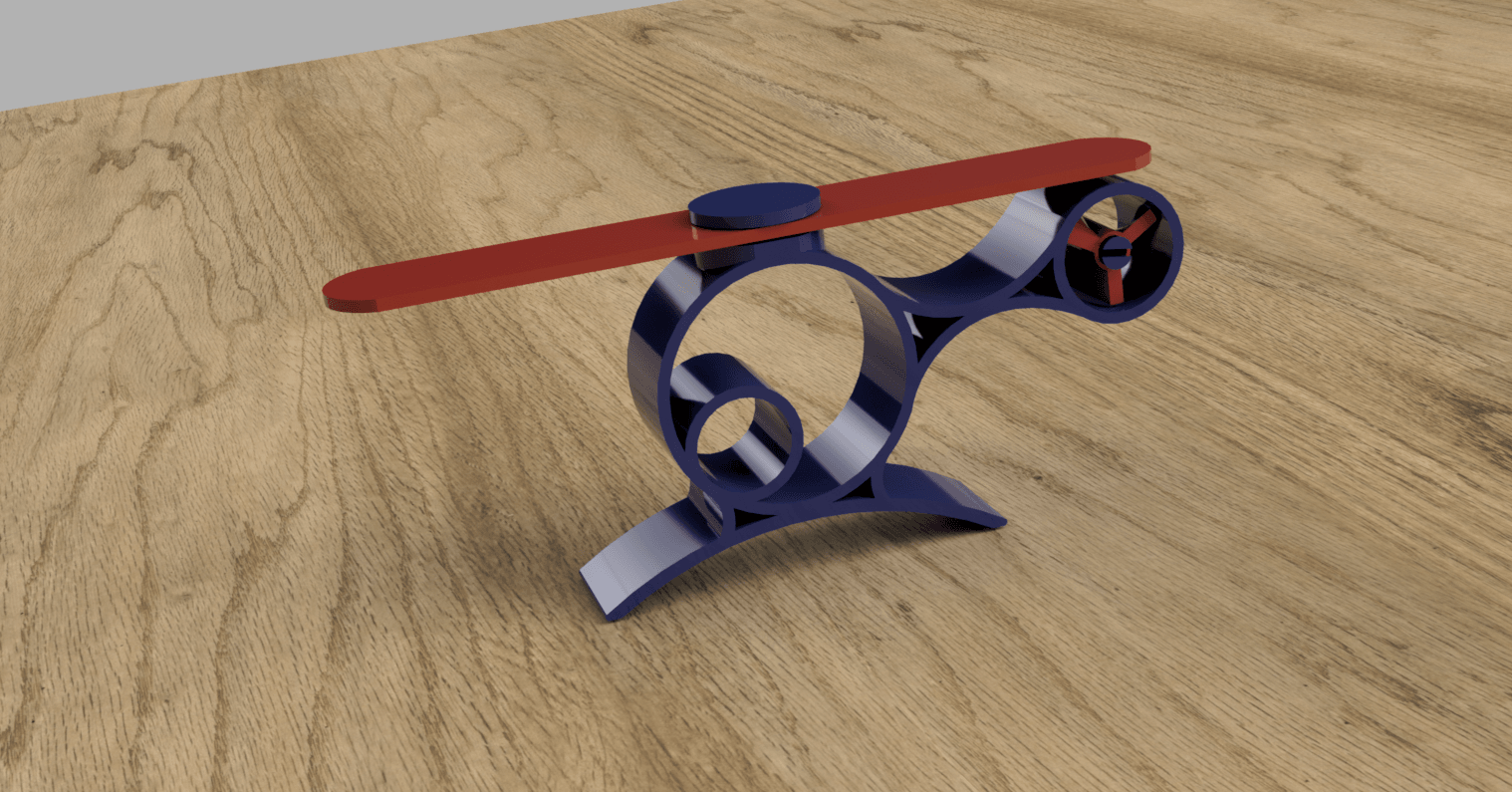rendu_helico v2.png Download free STL file Helicopter child • 3D printing design, MME