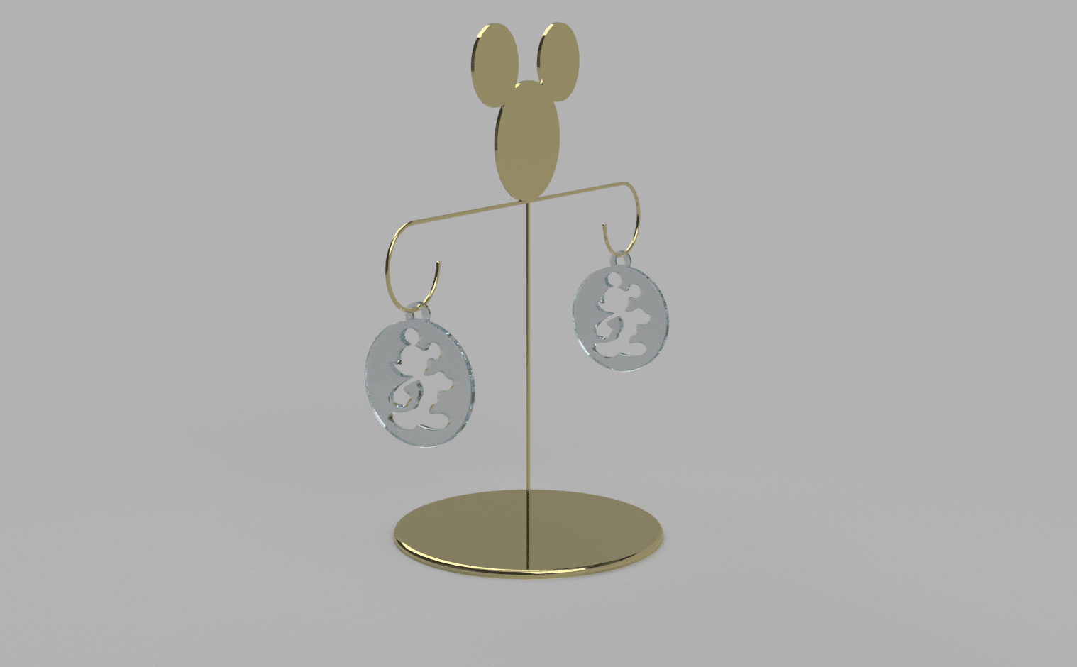 Boucle_mickey_scene v2.png Download free STL file mickey earring • 3D printable object, MME