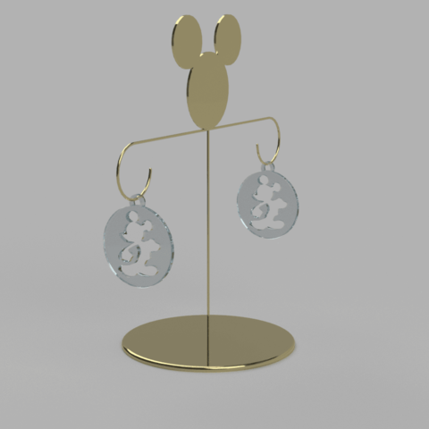 Free 3D printer model mickey earring, MME
