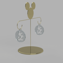 Download free 3D printer files mickey earring, MME
