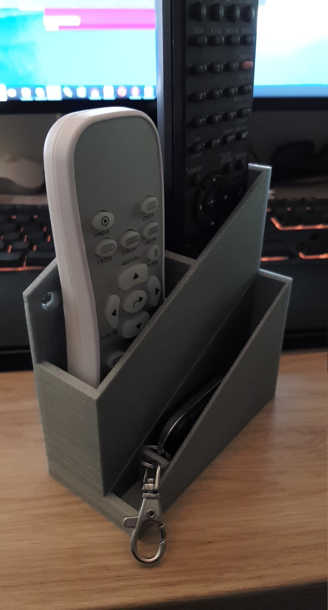 scv_15200220672861907076660.jpg Download free STL file wall mounted remote control • 3D printable template, MME
