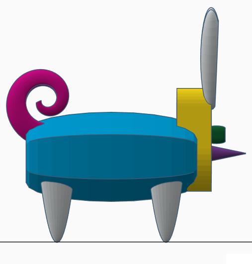 Stratomaker mascot image 2.png Download free STL file Bunny-Pig-Turtle Mashup Mascot • 3D printable model, AFT