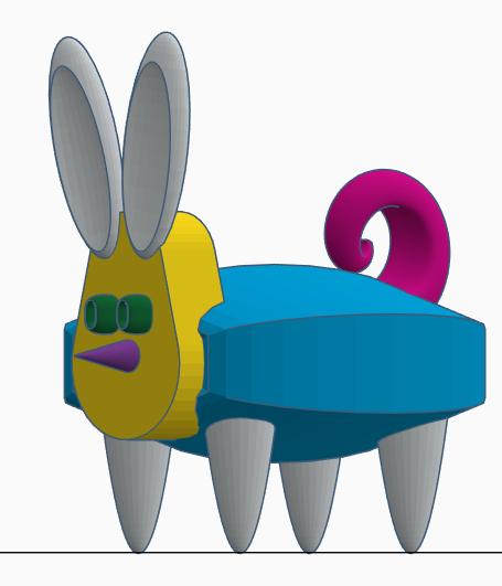 Stratomaker mascot image 1.png Download free STL file Bunny-Pig-Turtle Mashup Mascot • 3D printable model, AFT