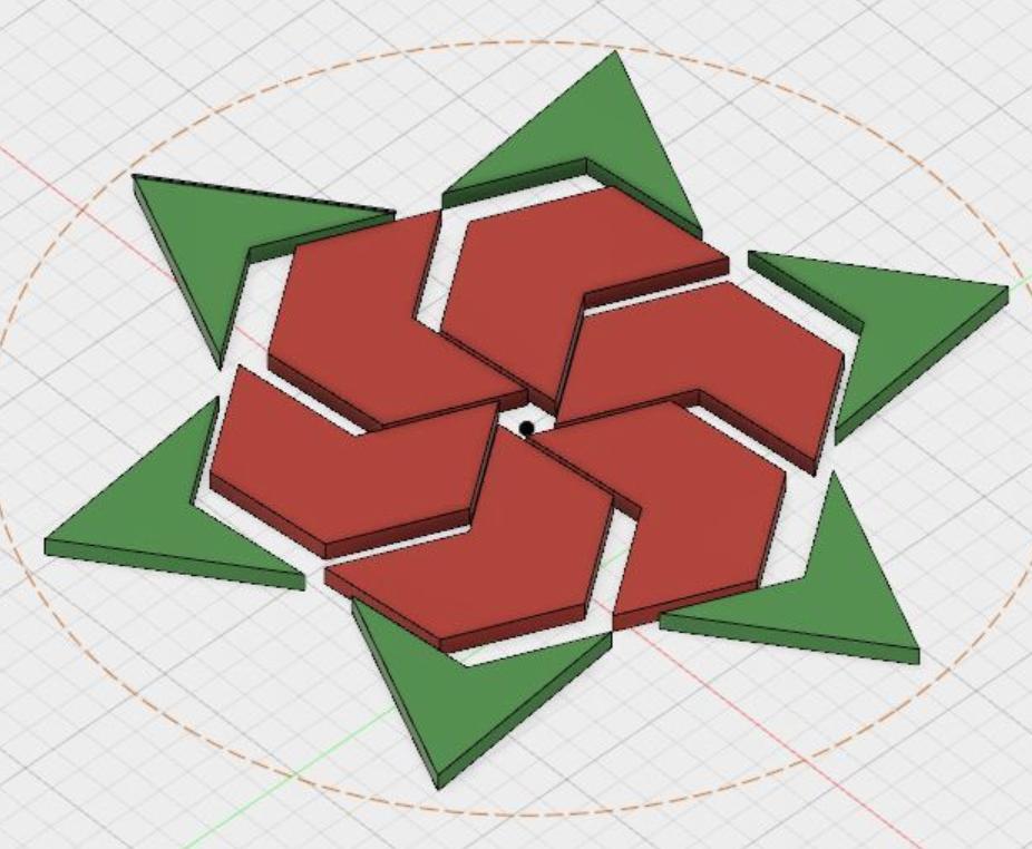 Capture d'écran 2017-12-26 à 15.10.46.png Download free STL file Hexagram, Hexagonal Star, Hexagon Puzzle • 3D printing model, LGBU
