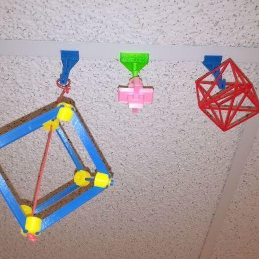 p1.jpg Download free STL file Ceiling Hooks • 3D printing design, LGBU